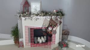 cardboard fireplace diy for christmas youtube