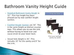 Standard Height For Bathroom Vanity by The Ultimate Bathroom Vanity Buying Guide