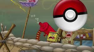 spongebob and patrick play pokemon go coub gifs with sound