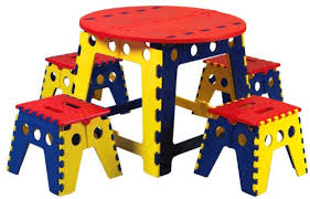 fold up children s table multi kids childrens folding foldable table and 4 folding foldable