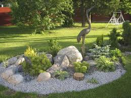 Beautiful Landscaping Ideas Neutral Cream House Painting Designed Before Front Yard Garden
