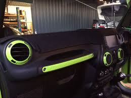 jeep interior jeep wrangler jk 4 door interior trim kit gecko green