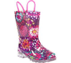 light up rain boots girls western chief abstract blooms lighted rain boot free