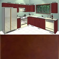 lesscare villa cherry 10x10 kitchen cabinets group sale