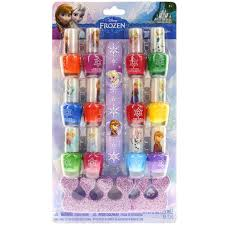 frozen 12 pack nail polish with nail file and toe spacers