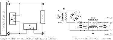 digital volt and ampere meter circuit diagram the circuit