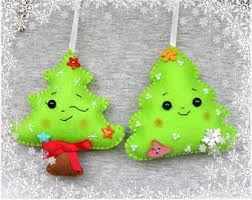 christmas tree ornaments felt snowman felt christmas