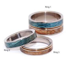 titanium wedding and engagement ring sets 3 rings minter and