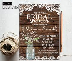 rustic bridal shower rustic bridal shower invitation printable lace bridal shower