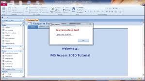 membuat form login dengan ms access 2007 create timer pop up reminder for task due part 1 ms access youtube