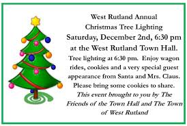 christmas tree lighting west rutland