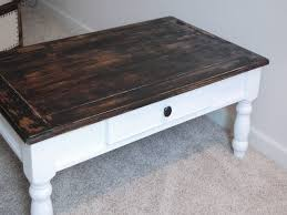 antique white distressed coffee table coffee table painted antique white and distressed wood brilliant for
