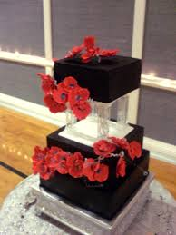 red and black wedding cake a piece of cake utah