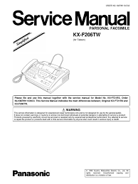 panasonic kx f206 sm electronic circuits power supply