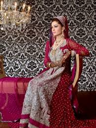new indian pakistani fashion bridal wedding walima dresses 2015