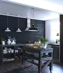 tableau blanc cuisine ardoise cuisine deco dco du0027une cuisine en noir et blanc mur