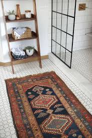 Rug In Bathroom How To Maintain A Vintage Rug In The Bathroom Brepurposed