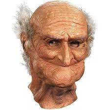 old man halloween mask funny grandpa cosplay face costume