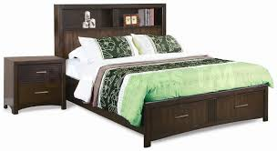 bookcase headboard ideas queen size storage bed with bookcase headboard and square side
