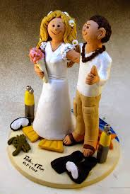 wedding cake topper of the day scuba divers cake topper custom