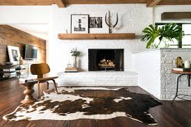 Cowhide Print Brown Cow Print Rug Tri Colour Cow Skin Rug Brown Cow Print Rug