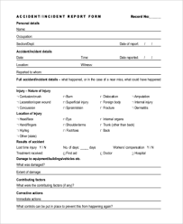 sample accident report form 10 free documents in word pdf