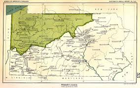 Maps Of Pennsylvania by Indian Land Cessions In The U S Pennsylvania Map 53 United