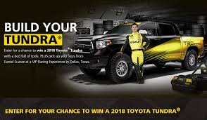 build your toyota build your tundra sweepstakes sweepstakesbible