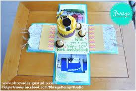 work anniversary gifts explosion box card for 10th work anniversary shreya design studio