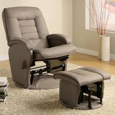 furniture gray oversized recliners with ottoman and wooden