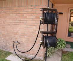 Cool Hoses by Dual Swiveling Pole Mounted Garden Hose Reels 10 Steps With