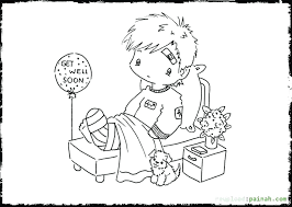 coloring pages for kids online get well soon printable u2013 vonsurroquen