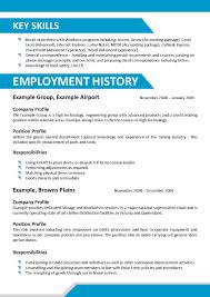 Profile Resume Section Writing Your Hood College Resume Template