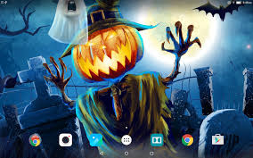 cute scarecrow wallpaper halloween live wallpaper android apps on google play
