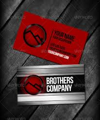 Red Business Cards Brothers Red Business Cards By Sabbatmedia Graphicriver