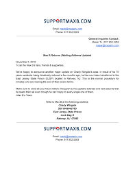 max b has been transferred mailing address updated nov 2016