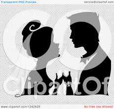 champagne silhouette png clipart of a silhouetted bride and groom with champagne during the