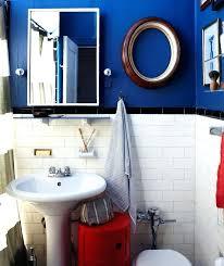 Blue And White Bathroom Ideas Blue Bathroom Ideas Navy Blue Bathroom With Vanity Royal Blue
