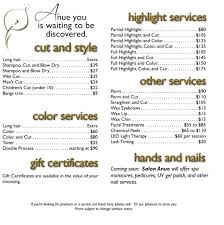 19 salon service menu template 22 tri fold brochure templates