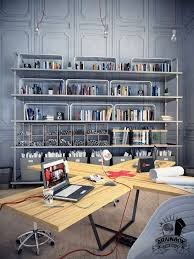 desk fascinate notable industrial office desk with hutch