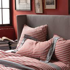 Red Duvet Set The Fresh And Cozy Draper Stripe Poppy Duvet Set