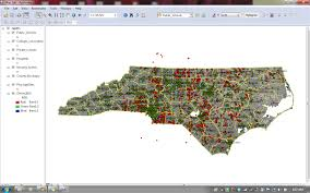 Map Of North Carolina Counties Bredl Nc Healthy Communities