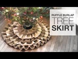 burlap tree skirt diy no sew burlap tree skirt tutorial