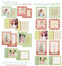 florabella holiday card photoshop templates for photographers