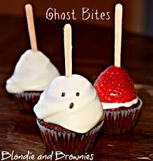 Halloween Cupcakes Ghost Strawberry Brownie Ghost Bites U2013 Blondie And Brownies