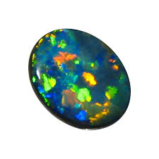 green opal rock rare black opal unset 2 54 carat oval puzzle harlequin gem flashopal