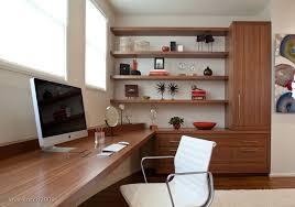 Built In Computer Desks Modern Home Office With Built In Desk Storage On Inspirationde
