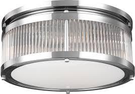 chrome flush mount light feiss fm512ch paulson modern chrome flush mount lighting fixture