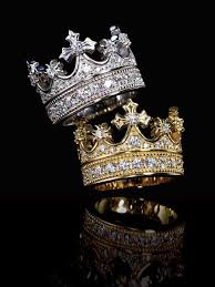 king and crown wedding rings interchangeable crown two tone created white sapphire wedding set