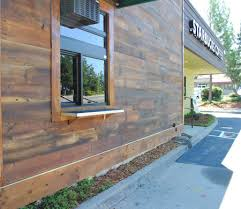 wood paneling exterior starbucks reclaimed wood flooring paneling and furniture